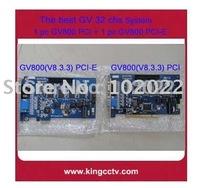 32 cams GV800 (v8.4) PCI-E V4+GV800 (v8.4) PCI V4  CCTV DVR Card