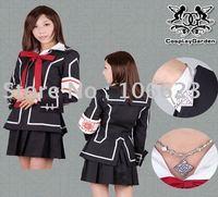 Wholesale Freeshipping Hot Selling low price Cheap Cosplay Costume C1203 Vampire Knight Yuki Uniform