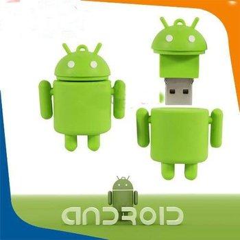 TRUE100% NEW! Free shipping! Google Android Robot USB 2.0 FLASH DRIVE pen drive usb stick 2gb 4gb 8gb usb thumb drive