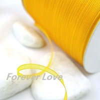 New Arrival -- 3mm 500YD Golden Topaz Satin Ribbon Wedding Favour Craft