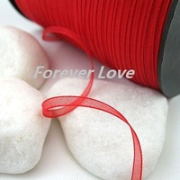 New Arrival -- 3mm 500YD  Scarlet Red Satin Ribbon Wedding Favour Supplies