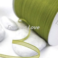 New Arrival -- 3mm 500YD  Apple Green Satin Ribbon Wedding Favor Decor Bow