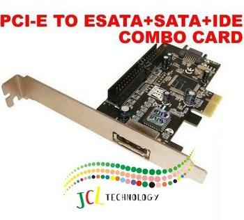 Free shipping 100% new pcie pci express to IDE+esata+sata raid adapter card