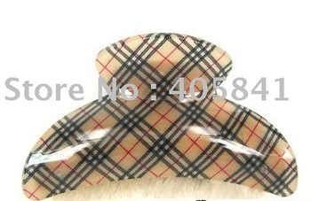 NEW arcylic designer inspired classic lattice plaid tartan hair clamps claw clip wholesale free shipping,12pcs/lot,HAC003