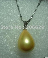 HUGE SOUTH SEA GOLDEN Shell Pearl Pendant/Necklace