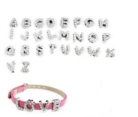 8mm&10mm letter charms full rhinestone DIY letter jewellery bling