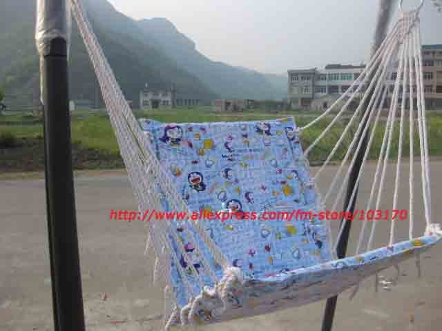 Free Shipping Child Swing Chair Guaranteed 100% Carton Swing Chair Garden Kids Leisure Children's Days Gift(China (Mainland))