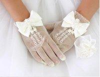 Retail Flower Girl  Wedding Gloves Children Wedding Dress Gloves Lace gloves/flower girl's accessories