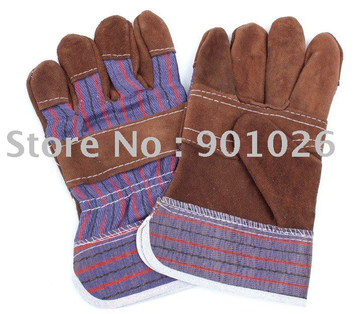 CKS-605A-BRN Cow split leather work gloves(China (Mainland))