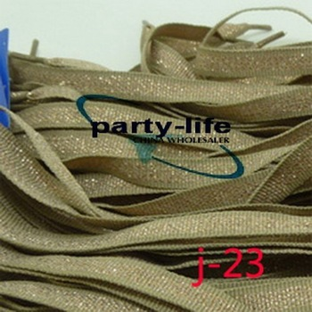 J-23) Flat Shoelaces Glittering Braid Shoe laces for Sneakers ,100pairs/lot