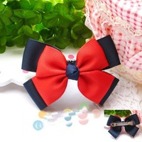 Girls' Hair Accessories Baby hair bows hairs clip infant grosgrain ribbon bows A007