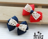 Girls' Hair Accessories Baby hair bows hairs clip infant grosgrain ribbon bows A012