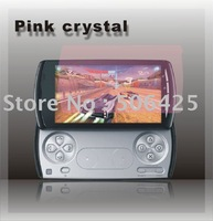Free Shipping New Brand Hot Selling  Pink Crystal Screen Protector For SE Xperia play
