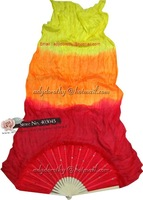free shipping brand new dance fan veil/belly dance fan veil/silk 3 colors fan veil/Mixed color WBB000023