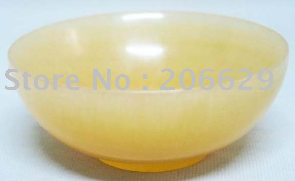 RARE CHINESE YELLOW JADE BOWL(China (Mainland))