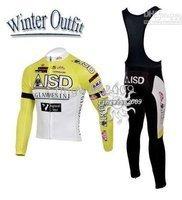 Free Shipping!! WINTER FLEECE CYCLING LONG JERSEY+BIB PANTS 2010 ISD -PICK SIZE:S M L XL XXL XXXL
