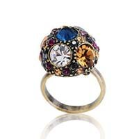 Luxury recommended! bright colorful gems ring(China (Mainland))