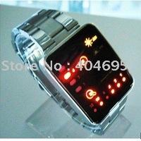 Free shipping  10pcs G1032 Binary LED watch hotting led watch