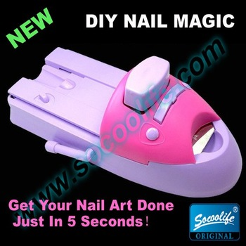 Free shipping!New hot sale diy nail magic polish machine,nail art coloring device