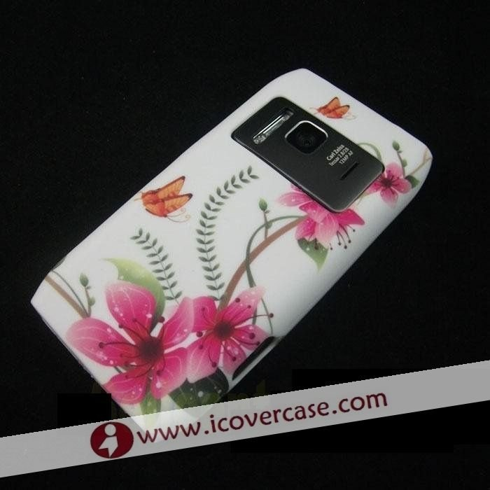 New Desig Silicone Flower Case Cover for Nokia N8,free shipping&amp;fast shipping(China (Mainland))