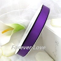 "FREE SHIPPIN --  PURPLE 3/8"" 100Y  QUALITY Satin Ribbon Wedding Party Craft BowRaspberry"