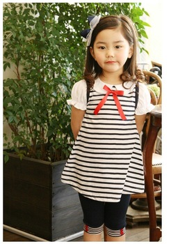Wholesale Summer~Princess Girl's Dress+PP Pants/Baby Dress+Shorts/Kid's Clothing Sets/children clothing Sets