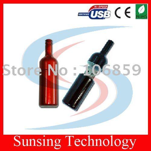 Beer bottle usb drive 1GB 2GB 4GB 8GB 16GB plastic usb drive & DHL free shipping(China (Mainland))