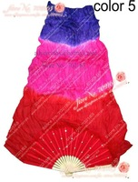 22PCS/lot in stock dance silk fan veil/belly dance fan veil/silk fan veil wholesale/belly dance accessory