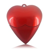 cheapest price,20pcs/lot 100% Warranty Heart Shape USB Flash Drive 4GB With Paper Box Packing
