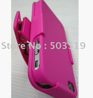 Hard Plastic Dual Case + Holster Clip with Rotatable Clip Combo for  iphone 4 4th 5pcs