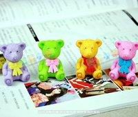 Cartoon eraser,rainbow bears,teddy bears simulation rubber,children gifts, school supplies,office stationery+Gift+FREESHIPPING