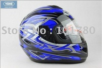 NEW ABS  Protection Full Helmet, Motorcycle Racing Open Face Helmet,Blue color