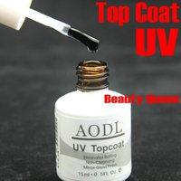 100% Quality Guaranteed Soak-off / Non-cleanser Top Coat Clear for UV Color Gel Polish Nail Art Soak Off Curing Tip * AODL