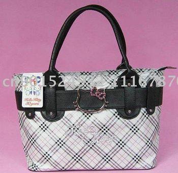 Free Shipping Fashion Brand New Hello Kitty shoulder bag tote handbag purse +Fashion earrings