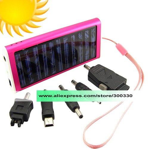 BD2 Solar Battery Charger Pink ,solar charger for phone 1pcs send by hong kong post(China (Mainland))