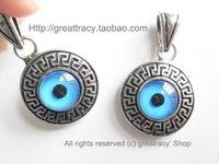 Hot sales!Guaranteed 100% Turkish blue evil eye pendent alloy 10pcs/bag