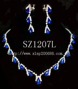 Fashion jewelry set .wedding jewelry sets evening dress accessories bridal Jewelry Sets sz1207