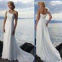 HS9929 cheap Free Shipping best selling 100% Guaranteed Floor-length chiffon beach bridal dress