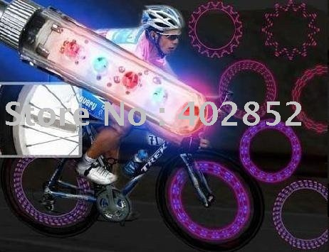 Free shipping/LED light for car,LED light for bicycle(5led flash, 32 kinds of color changes) Free Shipping 5set/lot(China (Mainland))
