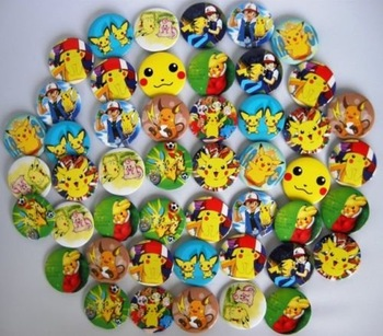4.5cm Pokemon poke monster Fashion badge 45pc Lot F0
