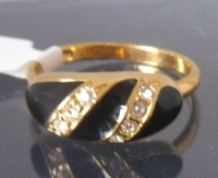Ring. 10 (U). Free delivery service. Provide tracking number. Gift insurance. 18KGP yellow gold ring. Fashion jewelry. Gift.
