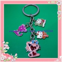 free shipping 12pcs/lot , hello kitty key chains , beautifull key chains, kitty key rings best for you