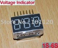 Lot(500) Low Voltage Indicator Checker Tester For 1S-6S Li-po Lipo Battery NO.786