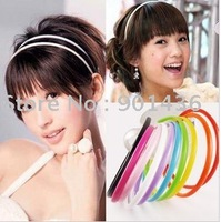 Free shipping/Wholesale Plastic hair band of high quality/head band/ (10 COLOURS)