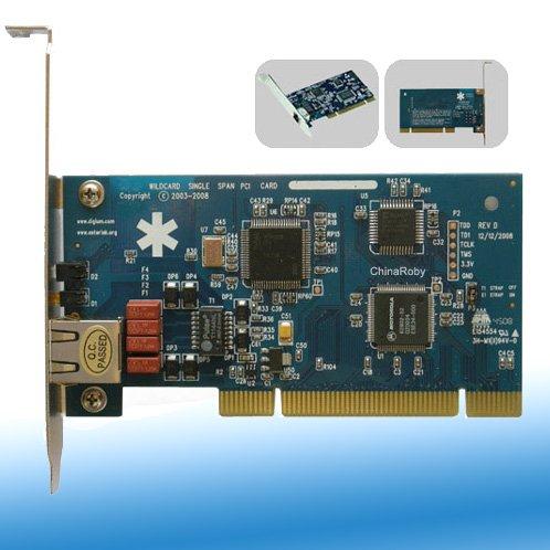 1 port E1 / T1 Card,ISDN PRI card,digium te110
