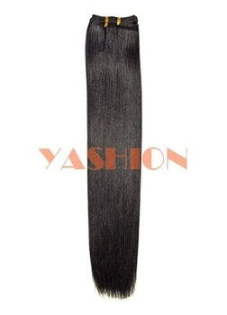 Factory Direct Sale!Remy Human Hair weft hair extension1B# color 16-24inch Low Price Fast Shipping