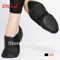 Dttrol free shipping comfortable premium Soft Cow Leather Jazz dance Shoes D004718