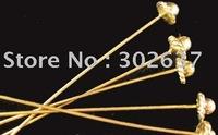 FREE SHIPPING 150pcs Antiqued gold HANDMADE 3D Hat head pin A857G