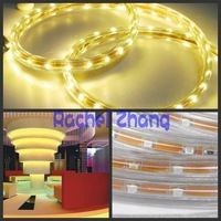 free shiping,5m Warm White SMD 3528 240LM Waterproof LED Strip,outside a transparent silicon tube
