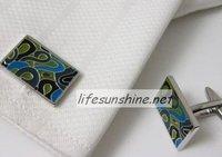 FreeShipping-Factory Offer wholesale Brand new 2010 Cuff links Enamel Cufflinks